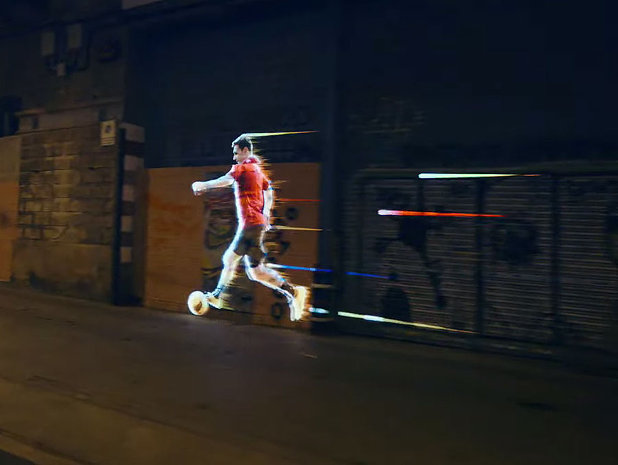 Messi en Adidas Video Mapping